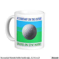 Accountant Outside Golfer Inside right hand mug