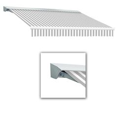 AWNTECH 8 ft. LX-Destin with Hood Left Motor/Remote Retractable Acrylic Awning (84 in. Projection) in