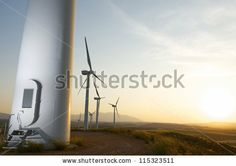 Group of windmills for renewable electric energy production, Fuendejalon, Zaragoza, Aragon, Spain by pedrosala, via ShutterStock