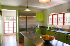 Palette & Paints: Modern Green Kitchens : Remodelista