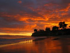 """""""I moved to Santa Barbara about five months ago and instantly fell in love with this wonderful place. In this photo is one of my first beach sunsets. It was an unforgettable day and the most beautiful view I have ever seen."""""""