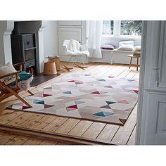 #Raumidee des Tages: Dreiecke und knallige Farben #Teppich #Bodengestaltung  Gibt es hier: http://wck.me/10bN?utm_content=bufferb77e8&utm_medium=social&utm_source=pinterest.com&utm_campaign=buffer