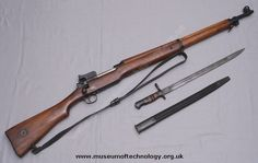 WW1 LEE ENFIELD P14 RIFLE AND BAYONET, 1914 (C, WW1)