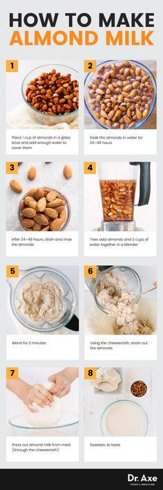 How to make almond milk - Dr. Axe http://www.draxe.com #health #keto #holistic #natural #recipe