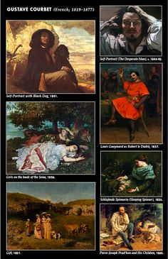 Happy birthday to Gustave Courbet—born June 10, 1819—whose powerful pictures of peasants and scenes of everyday life established him as the leading figure of the French Realist movement. Courbet occupies an important place in 19th-century French painting as an innovator and as an artist willing to make bold social commentary in his work.