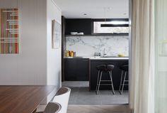 #kitchen #marble #black