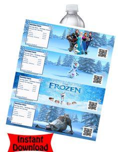 Frozen Water Bottle Labels