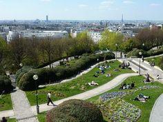 Parc de Belleville, Paris, France.