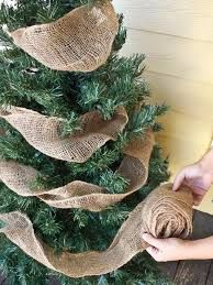 christmas staircase burlap - Google Search