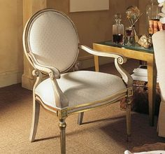 Olivia Chair from the Henredon Upholstery collection by Henredon Furniture City Furniture, Furniture Upholstery, Painted Furniture, Interior Sliding French Doors, Upholstered Accent Chairs, Love Chair, French Chairs, Take A Seat, Cool Chairs