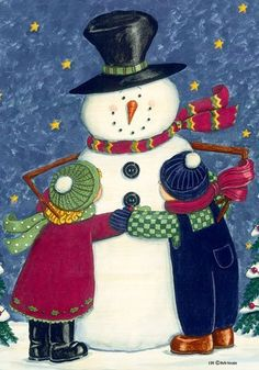 """Christmas Winter Snow Hugs Snowman House Flag 28 x 40 by Custom Decor. $18.49. New for 2012. Snow Hugs designed by Deb Strain for Custom Decor. Relive your days of making snowmen in this sweet flag. It features two children giving a snowman a hug. Custom Decor takes original artwork and reproduces it on 300 denier polyester fabric. The outdoor decorative flag measures 28 x 40"""" and is sleeved to go on a standard house pole. The flags are permanently dyed and are fade and mild..."""
