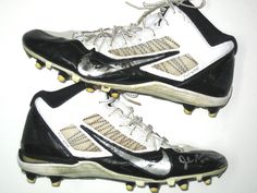 Josh Mauro Pittsburgh Steelers Rookie Game Worn & Signed White, Black & Silver Nike Cleats