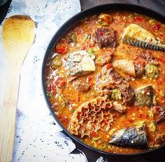 """Okro-Ogbono soup is seed-based and has high thickening properties (main ingredient are grounded  """"ogbono"""" seeds  from """"bush-mango"""" fruits). Add to it traditionally used for soups pieces of cow skin, triple, snails and some """"real"""" meat…"""