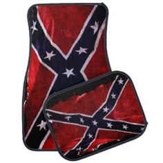 Confederate Flag Southern Cross US Flag for Rebels Floor Mat
