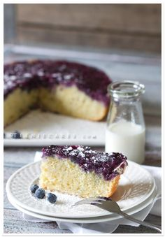 Blueberry Buttermilk Cake from Christina of Teenie Cakes - http://www.teeniecakes.com/2011/07/blueberry-buttermilk-cake