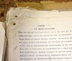 The above is a manuscript version of Millicent Price's autobiography; she had strong links to York and her husband was a conscientious objector working for the Friends War Victims Relief Committee in Holland. Its certainly worth a read. Conscientious Objector, Libraries, First World, Holland, Encouragement, Collections, Strong, Explore, Reading