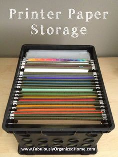 Printer Paper + Binder Accessories Storage | Fabulously Organized Home