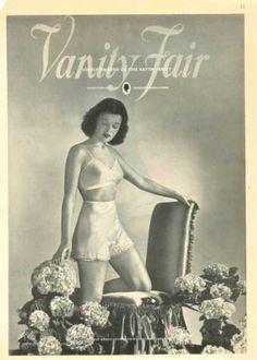 1945 Vanity Fair Ad. The 40′s reintroduced a defined high waist.