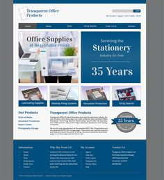 Transparent Office Website Design: Transparent Office Supply is a local business located in Southern New Jersey. They provide office supplies for large companies and have been in business for over 35 years. Web Design Projects, Filing System, Ecommerce, Office Supplies, Southern, Stationery, Website, Business, Papercraft