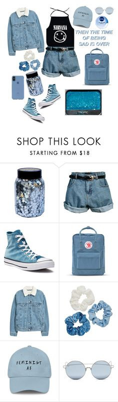 """""""Everything is blue His pills, his hands, his jeans💙"""" by eveningstar-738 on Polyvore featuring NARS Cosmetics, CO, Retrò, Converse, Fjällräven, Mudd, For Art's Sake, Incase and Nivea"""