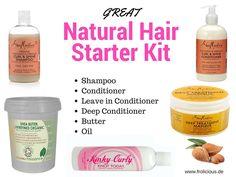 Great Natural Hair Starter Kit For Hair Growth Natürliches Haar Starter Kit Curl Shampoo, Hair Growth Shampoo, Hair Growth Oil, Dread Shampoo, Baby Shampoo, Natural Hair Care Tips, Natural Hair Journey, Natural Hair Growth Remedies, Hair Remedies