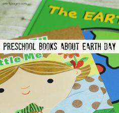 Preschool Books About Earth Day for young children in preschool, pre-k, or kindergarten.