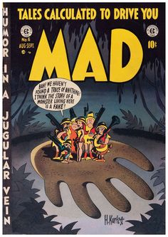 """In the winter of 1952 EC Comics published a brilliant satirical tale by Harvey Kurtzman and John Severin titled merely """"Melvin!"""" in MAD . Ec Comics, Horror Comics, Vintage Comics, Vintage Books, Vintage Magazines, Comic Book Artists, Comic Books, Mad Magazine, Magazine Covers"""