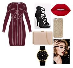 """""""Christmassy look for fancy lady's"""" by torsdoyle ❤ liked on Polyvore featuring Hervé Léger, Lime Crime, Michael Kors and Christian Dior"""