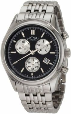 Rotary Men's GB00030/04 Timepieces Classic Bracelet Watch Rotary. Save 72 Off!. $169.69. Case diameter: 42 mm. Date, black dial; Swiss made. Three chronograph dials. Quartz movement. Water-resistant to 330 feet (100 M)