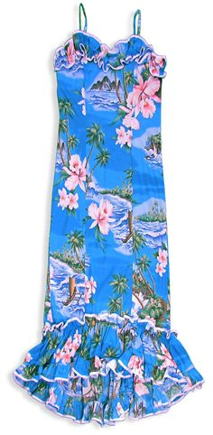 Island Muumuu Dress - Orchids : Shaka Time Hawaii Clothing Store