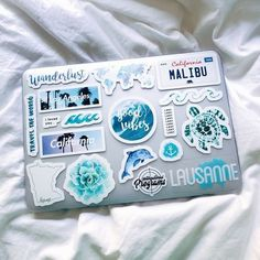 Laptop sticker collage Macbook pro stickers certainly are a fantastic approach to produce your computer look Cute Laptop Stickers, Macbook Stickers, Diy Stickers, Macbook Decal, Sticker Ideas, Coque Macbook, Macbook Case, Laptop Case Macbook, Laptop Stand
