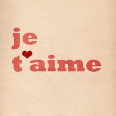Je t'aime!