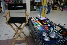Face Painting Set Up | Hazel's face painting set up in a shopping mall