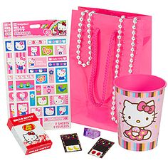 """use cup as """"party bag"""" and fill with goodies"""