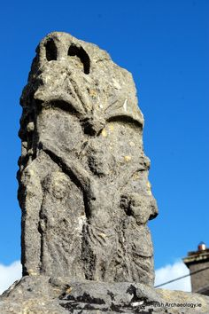 Crucifixion scene depicted on the c. 15th century market cross, Athenry, Co. Galway, Ireland