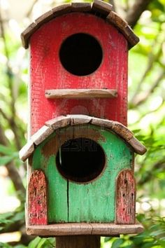 Birdhouse - red light, green light? Maker has a great sense of style/humor.