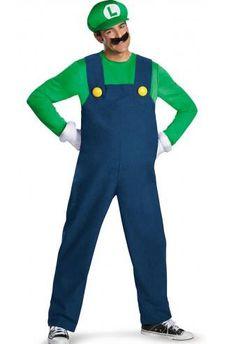 Disfraz Luigi, Súper Mario Bros Original disfraz del personaje de Luigi, el gran amigo de Mario Bros.