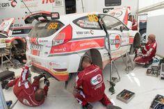 Fiesta R5 Motointegrator Team w strefie serwisowej