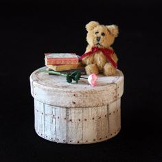 Doll House Miniature - Carved Shabby Chic Wood Box
