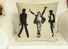 cotton linen Fabrics Creative pillow sham Michael Jackson MJ Dance printed Pillow Cover cushion cover pillow pattern pillowcase pillow case