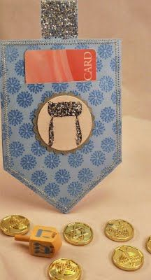 Hanukkah Dreidel Gift Card Holder