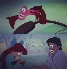 The Little Mermaid face swap.  This makes me so unbelievably uncomfortable.