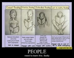 A guide for approaching bookworms. Judging by the reader's expression.... :)