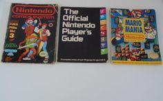 Lot-3-Nintendo-Books-1987-Players-Guide-1991-Mario-Mania-1990-Comics-System-Vali
