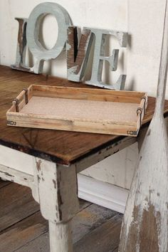Wood Tray << Do this with extra raw wood trays.