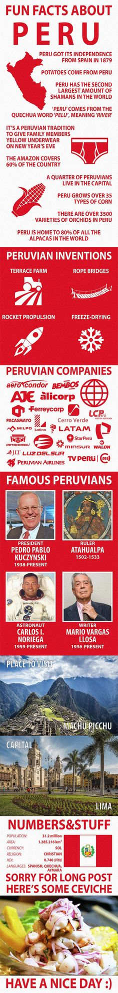 Fun Facts about Peru