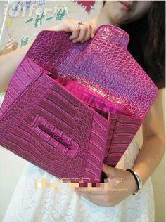 Women Snake pattern Clutch Envelope package Handbags
