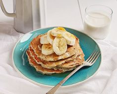 Banana Oat Pancakes #breakfast #recipe