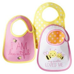 Just One You™Made by Carter's® Newborn Girls' 3 Pack Bee Bib Set - Pink/Yellow