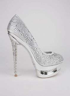 3  3 Sparkle shoes... swoon! They also come in black or gold. Rhinestone  embellished triple platform. 7f5832a5d3f8